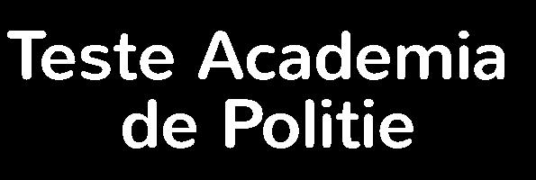 Teste Academia De Politie